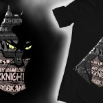 Dark Knight Text T-shirt Design